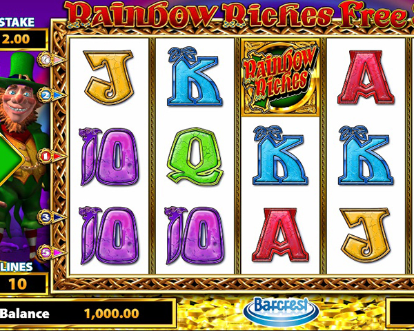 Rainbow Riches Free Spins screenshot